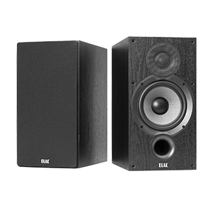 ELAC Debut 2.0 B6.2 Bookshelf Speakers, Black (Pair)